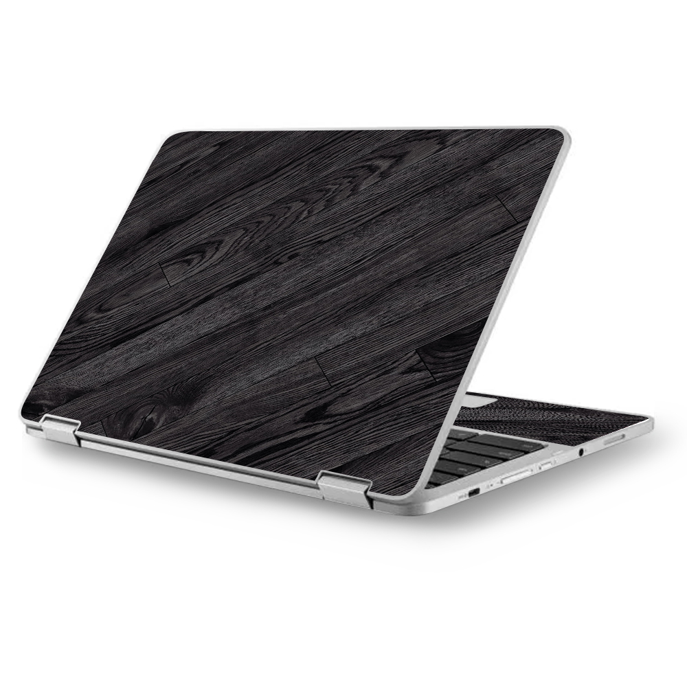 """Skins Decals for MacBook Air 11"""" A1370 A1465 / Black Wood"""