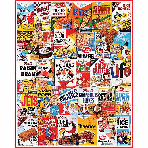 White Mountain Puzzles 958PZ Cereal Boxes Collage Puzzle