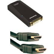 Diamond External Video Display Adapter and Axis 6' HDMI Cable with Ethernet