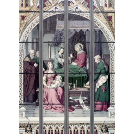Century Stained Glass - Birth of Mary  The 19th Century 19TH CENTURY Stained Glass STAINED GLASS Poster Print