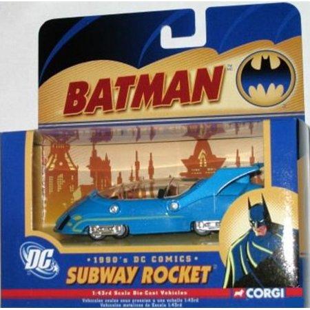 SUBWAY ROCKET Corgi DC Comics Batman 1990's Batmobile 1:43 Scale Detailed Diecast With - 1990s Theme
