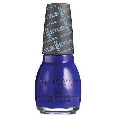 Sinful Colors Kylie Jenner Trend Matters Satin Nail Polish  2135   Kosmos  Dark Blue   5 Fl Oz  Formaldehyde  Toluene  And Dbp Free By Sinful Colors Trend Matters Satin From Usa