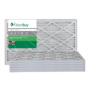 FilterBuy 14x24x1 MERV 8 Pleated AC Furnace Air Filter, (Pack of 6 Filters), 14x24x1  Silver
