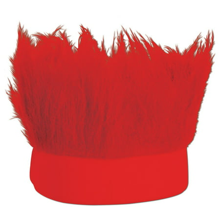 Club Pack of 12 Red Decorative Party Hairy Headband Costume Accessory