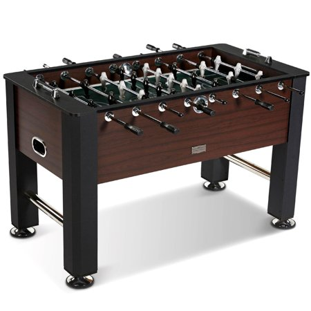 Barrington 56 Inch Premium Furniture Foosball Table, Soccer Table, Sturdy Leg Construction, includes 2 balls, Black/Brown