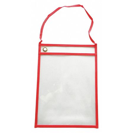 ZORO SELECT 45TU84 Shop Ticket Holder,Red,12 in. W,PK25 Red Ticket Holder