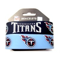 Tennessee Titans Sports Team Logo Rubber Wrist Band - Set of 2