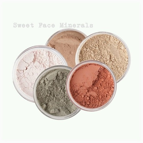 Sweet Face Minerals 5 Pc Kit Mineral Makeup Set Bare Skin Sheer Powder Concealer Corrector Blush Foundation Cover (Fair Shade 2)
