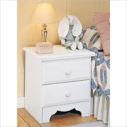 Creative Interiors 924-810 Night Stand - Pearl White
