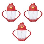 Lollacup Infant And Toddler Straw Cup, 3 Pack - Red/Red/Red