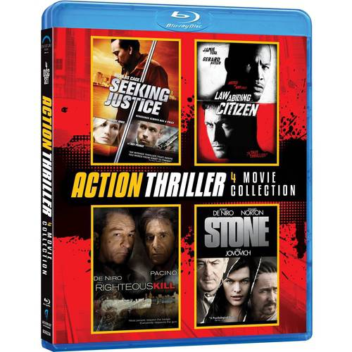 Action Thriller 4-Pack: Seeking Justice / Law Abiding Citizen / Righteous Kill / Stone (Blu-ray) (With INSTAWATCH)