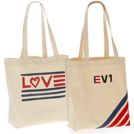 EV1 Striped & Love Flag Market Tote Bundle