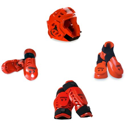 Macho Warrior 7 Piece Sparring Gear Set With Shin