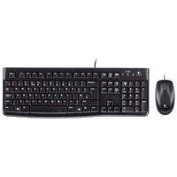 Refurbished Logitech MK120 Wired USB Keyboard Mouse Desktop Combo