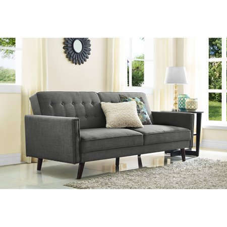 Better Homes And Gardens Rowan Linen Futon Grey