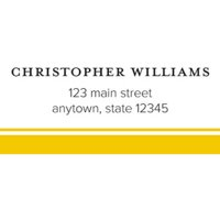 Striped Note Personalized Address Label