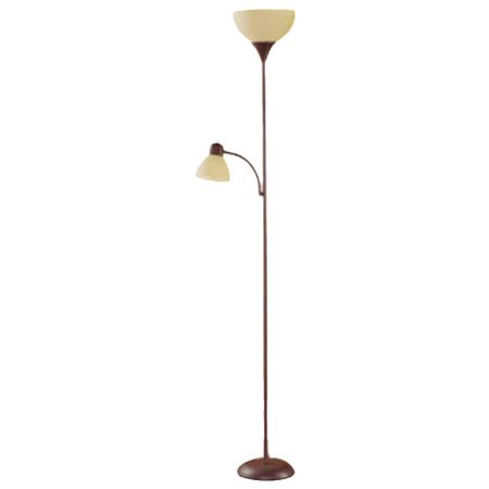 Mainstays 72 Combo Floor Lamp With Adjule Reading Brown