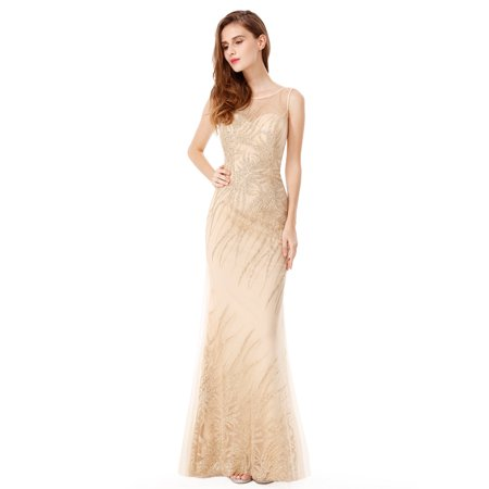 Ever-Pretty Ever Pretty Prom Dress Glitter Evening Gown with ...