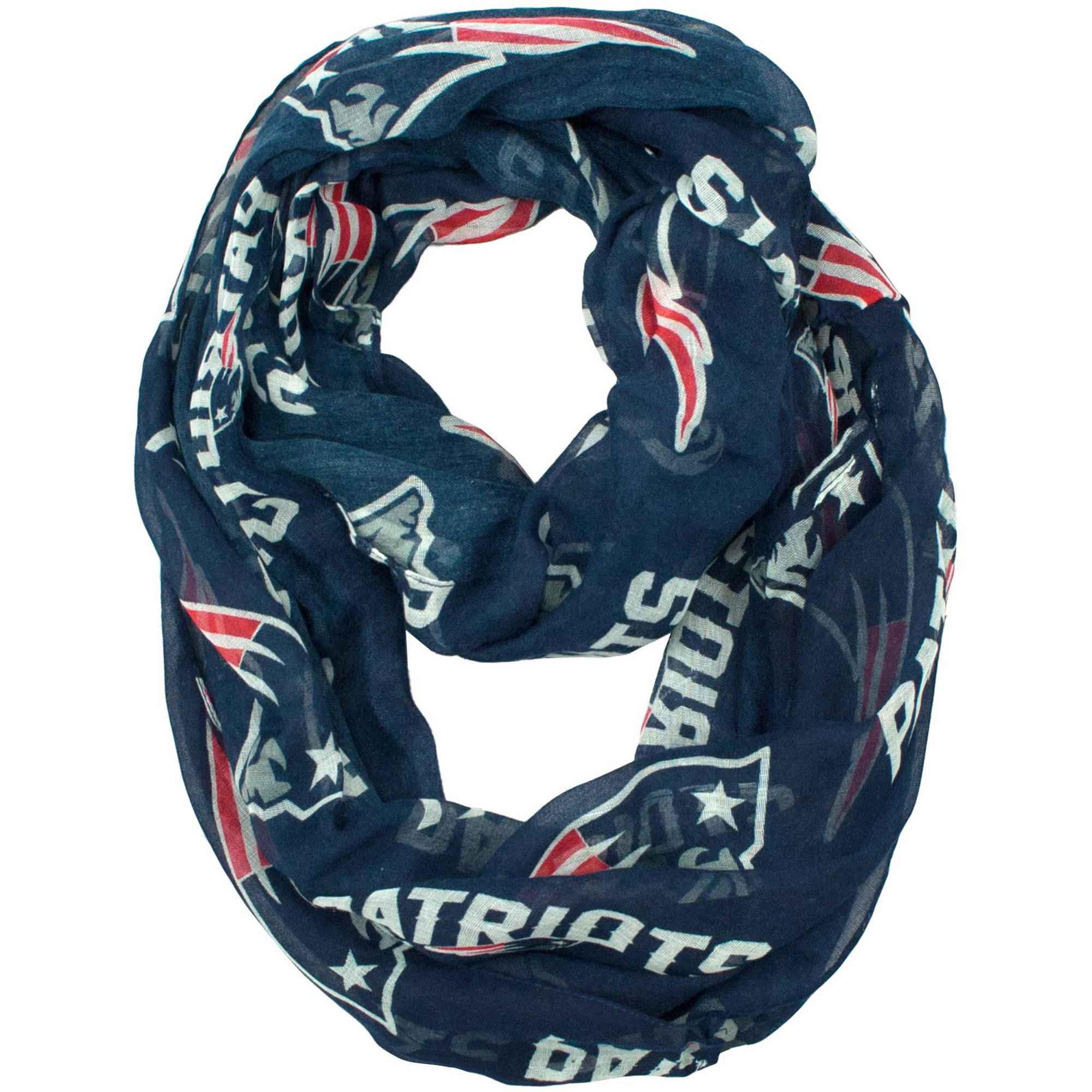 Little Earth - NFL Sheer Infinity Scarf, New England Patriots