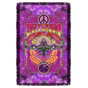 Jefferson Airplane Take Off Woven Throw White 48X80