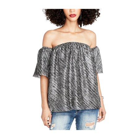 Rachel Roy Womens Textured Knit Blouse blackcombo S - image 1 de 1