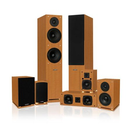 Fluance Classic Elite Series 7.0 Enhanced Surround Sound Home Theater Speaker System by