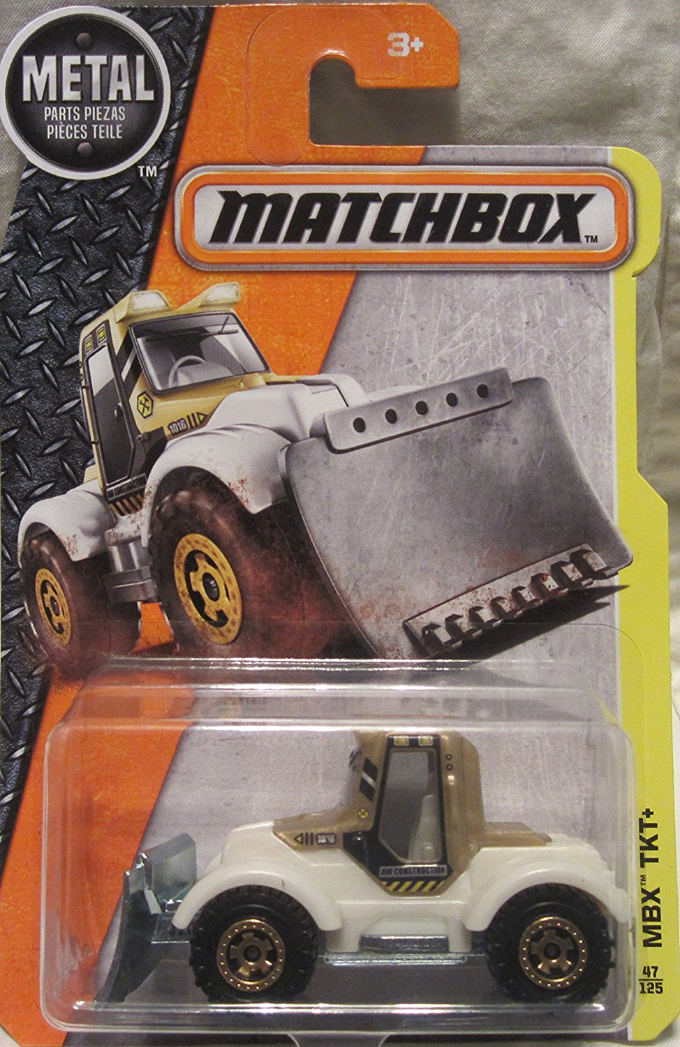 2016 MBX Construction MBX TKT+ (Plow Truck) 47 125, White, 1:64 scaled die-cast plow truck... by