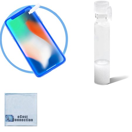 Universal Invisible Liquid Glass Screen Protector for All iPhone, Samsung, tablets and any other Device with glass + eCostconnection Microfiber