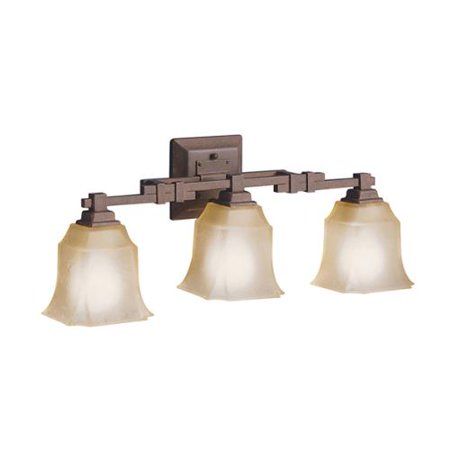 Tannery Bronze Cast (Aztec Lighting Transitional 3-light Tannery Bronze Bath/Vanity)