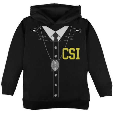Halloween Crime Scene Investigator Costume Black Toddler Hoodie