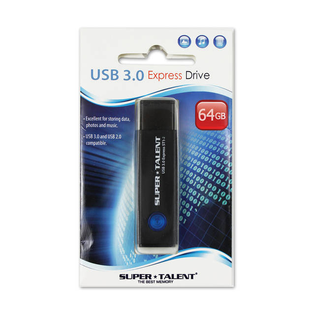 Super Talent ST3U64S12K(SZ) 64gb Express St1-2 Usb 3.0 Flash Drive
