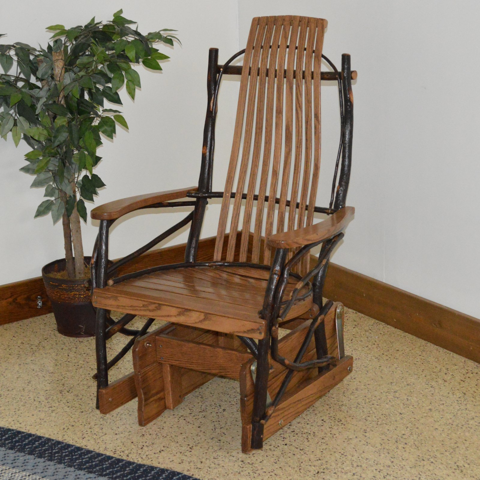 A & L Furniture Hickory Glider Rocking Chair
