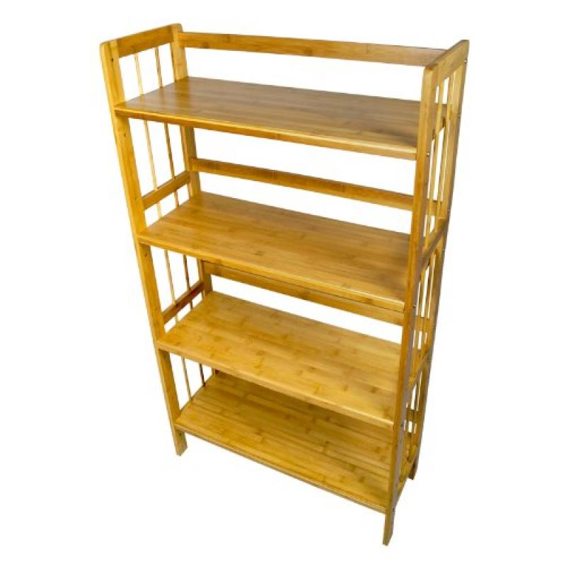 Yi Hai Bamboo Bookshelf 4-tier Book Rack Storage Rack