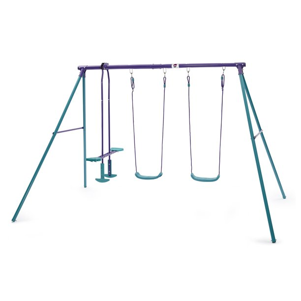 Plum Jupiter Double Swing and Glider Set