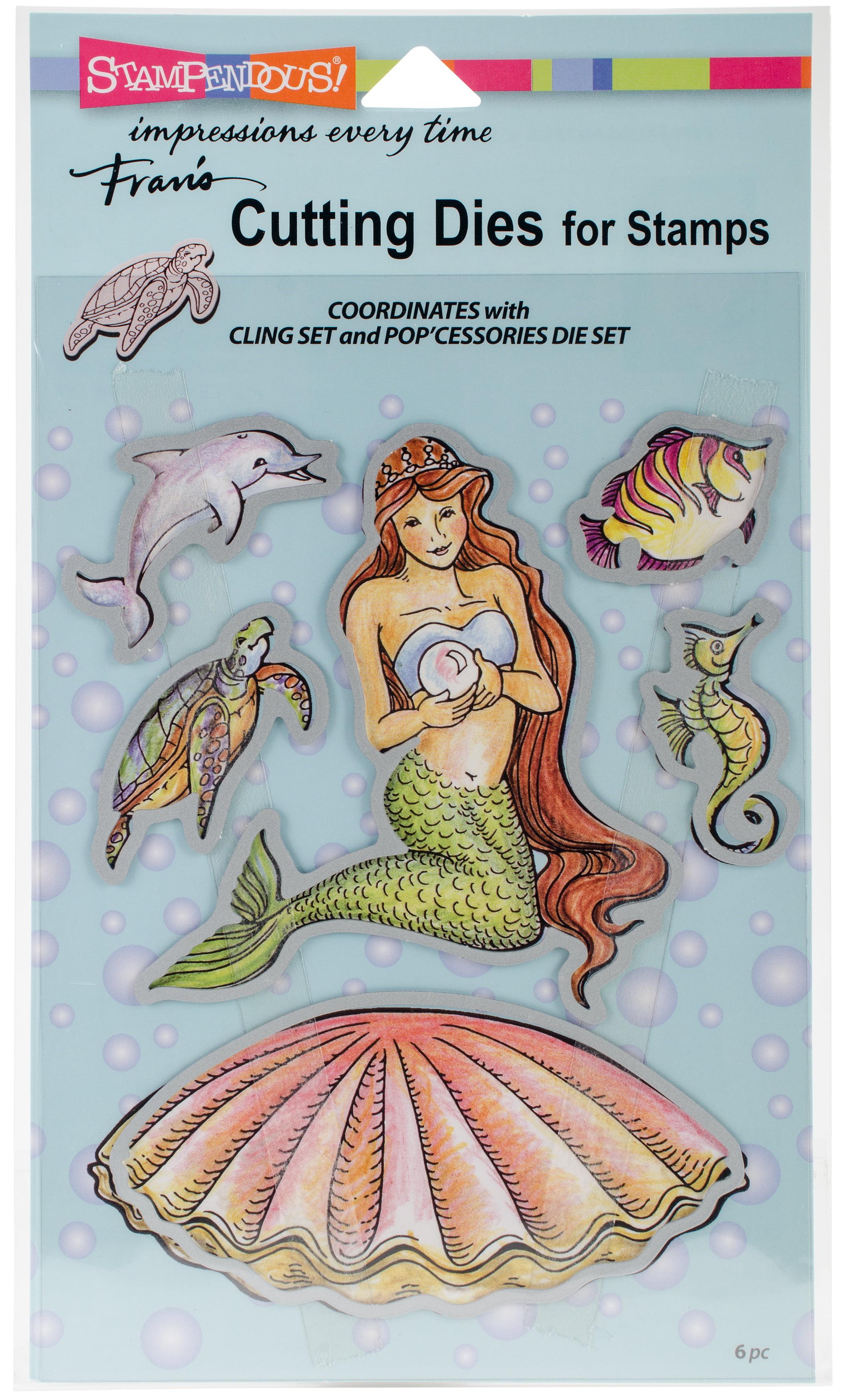 Stampendous Dies, Pearl Mermaid - Walmart.com