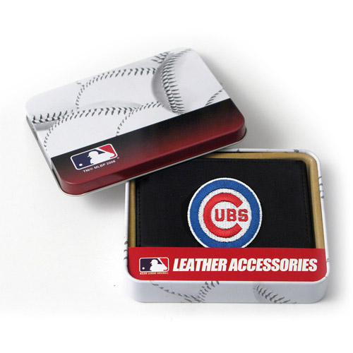 MLB - Men's Chicago Cubs Embroidered Trifold Wallet