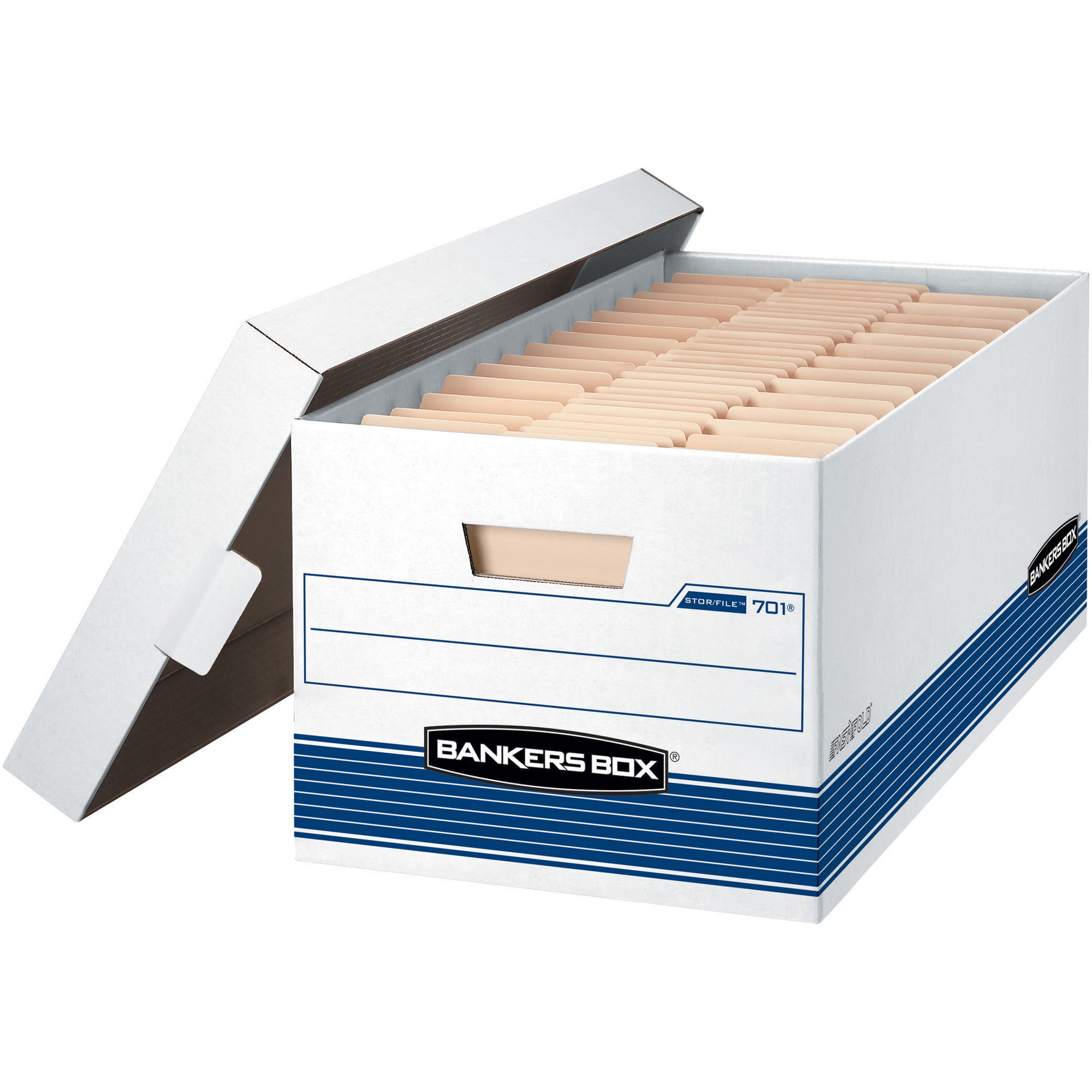 Bankers Box File Storage Boxes with Lids, 12-Pack