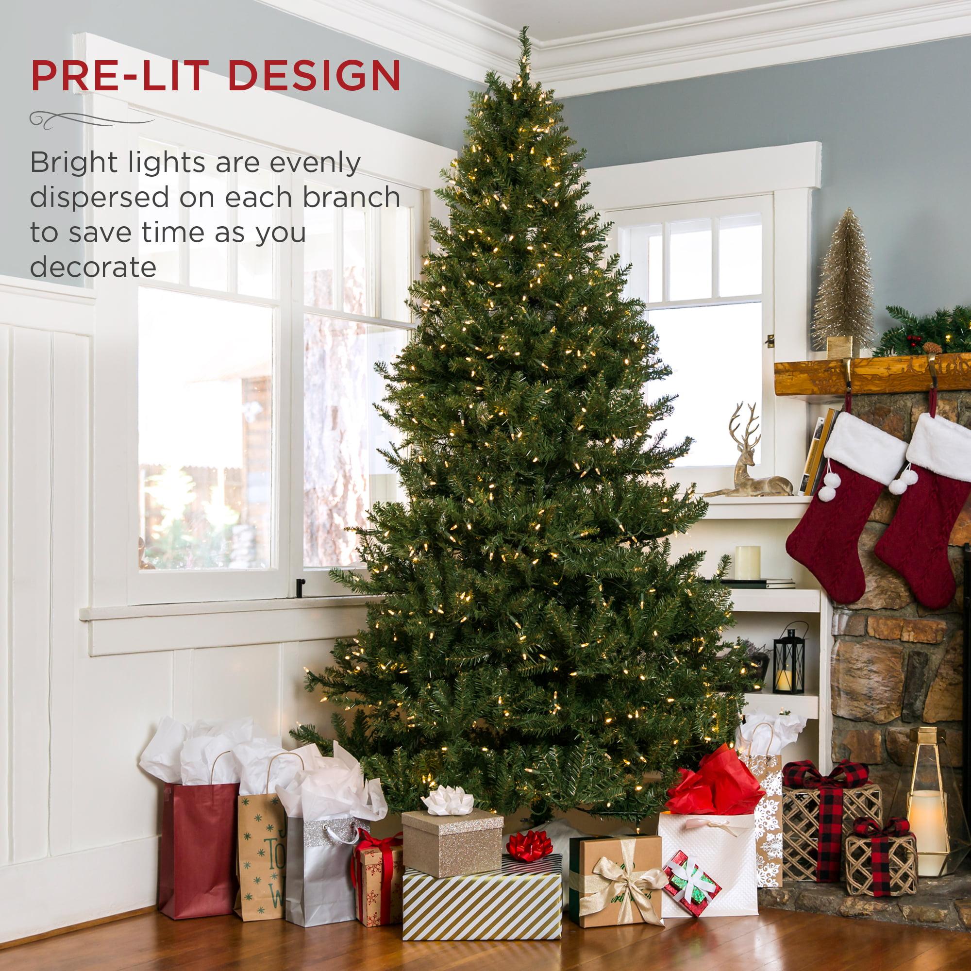 Best Choice Products 6ft Pre Lit Hinged Douglas Full Fir Artificial Christmas Tree Holiday Decoration W 450 Lights Walmart Com Walmart Com