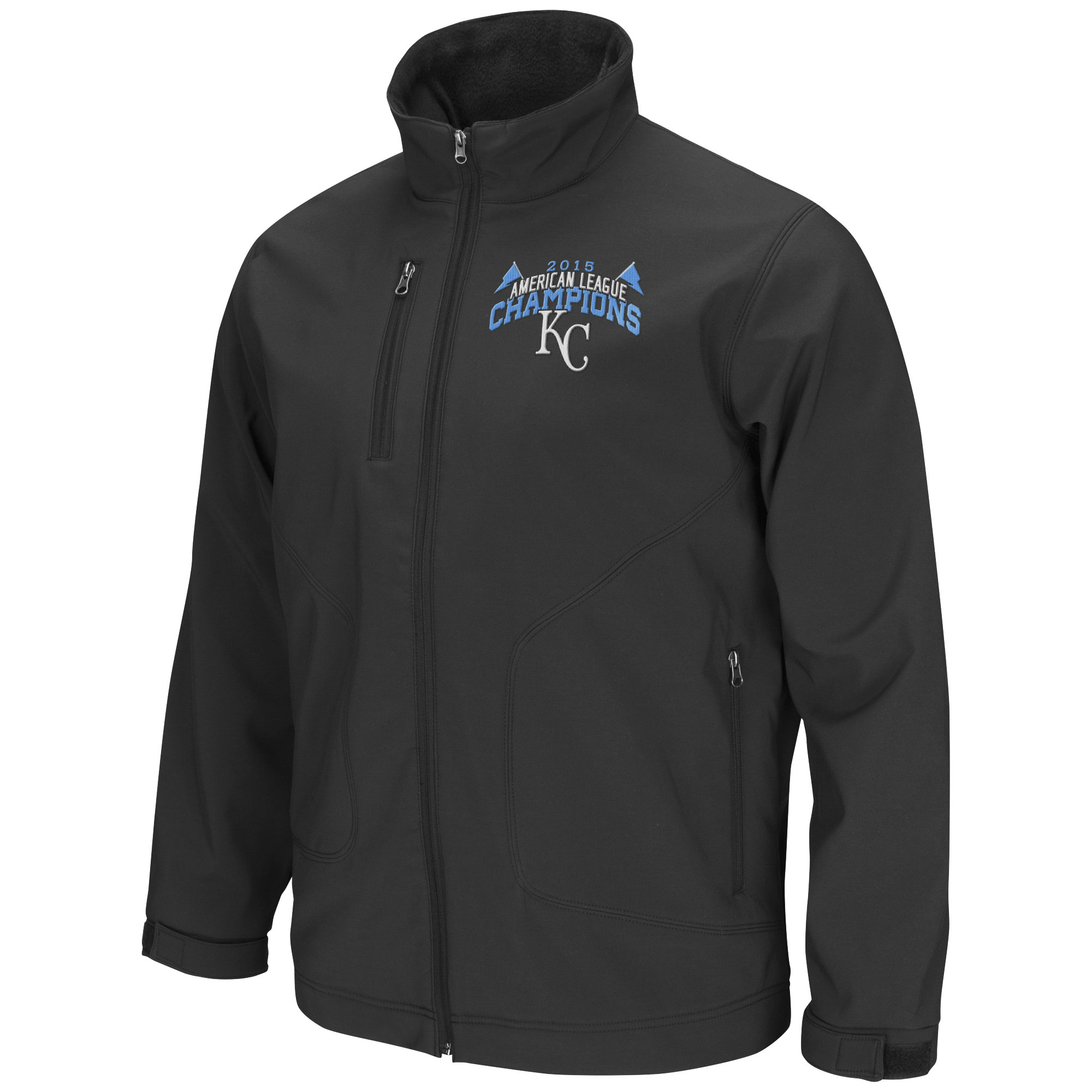 Kansas City Royals G-III Sports by Carl Banks 2015 American League Champions Soft Shell Jacket Black by G-III LEATHER FASHIONS INC