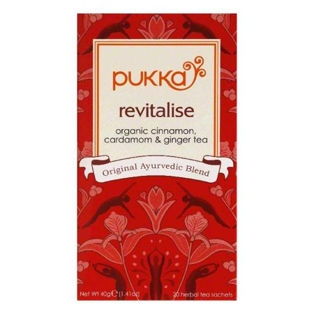 Pukka Sachets Revitalise Herbal Tea, 20 ea (Pack of 6)