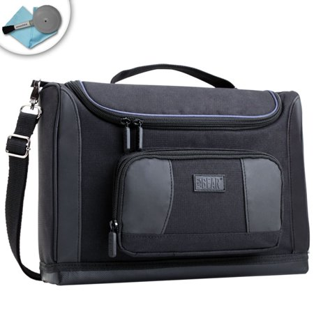 USA GEAR S7 Pro Tablet Messenger Bag with Adjustable Shoulder Sling & Customizable Internal Dividers - Works with Dragon Touch X10 , Samsung Galaxy Tab 4 , NVIDIA Shield K-1 & More Tablets
