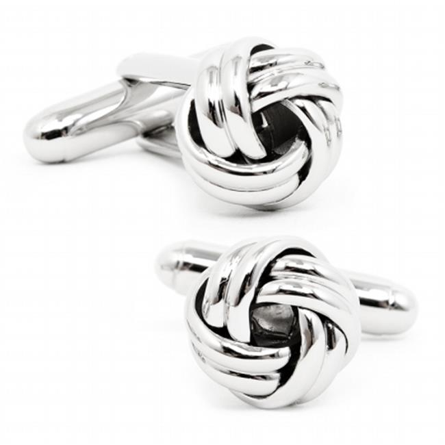 Ox and Bull OB-KNT-SL Silver Knot Cufflinks