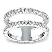 KABOER New Exquisite Full Diamond Ring Jewelry Women's Diamond Ring Wedding Bride Engagement Ring Anniversary Ring