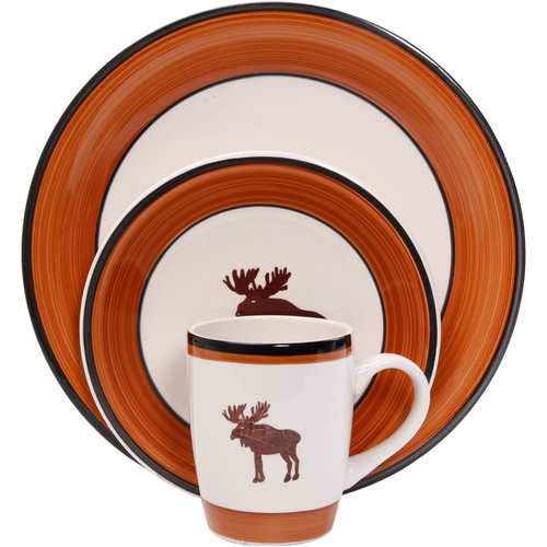 Mainstays Moose Cabin 16-Piece Dinnerware Set  sc 1 st  Walmart & Mainstays Moose Cabin 16-Piece Dinnerware Set - Walmart.com