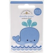 Doodlebug Doodle-Pops 3D Stickers-Wally Whale