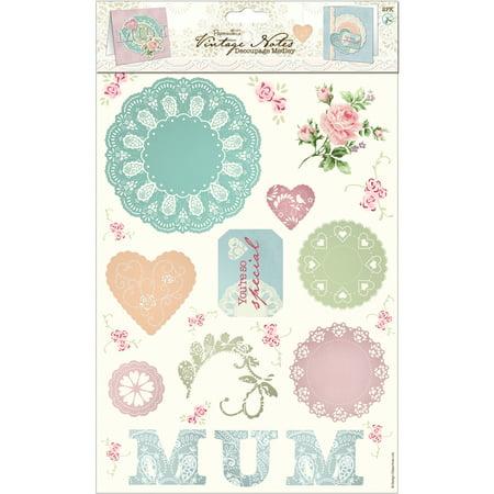 Papermania Vintage Notes Decoupage Pack 2/Sheets-Mum - image 1 de 1