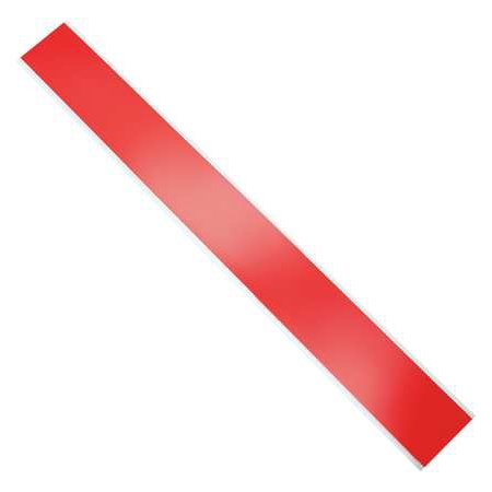 4 Mil Plain Red Barricade Tape, Red, 1000 Ft X 3 In
