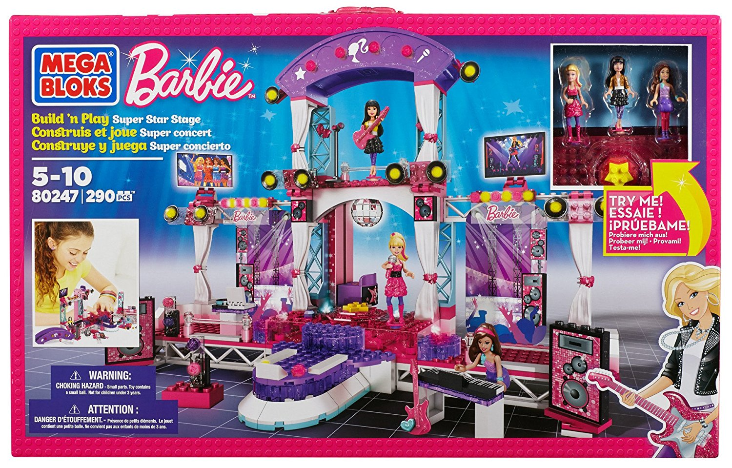 Barbie Super Star Stage, A buildable multi-story out-of-this-world concert set By Mega... by