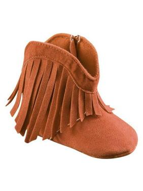 Infant Baby Girl Soft Bottom Anti-Slip Prewalker Crib Shoes Tassel Ankle Boots