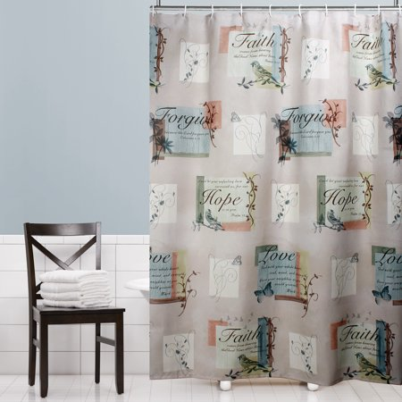 Mainstays hopeful fabric shower curtain for Kids shower curtain sets